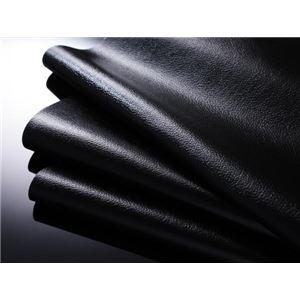フロアベッド セミダブル【MAD】【ボンネルコイルマットレス:レギュラー付き】 ブラック 【マットレス】アイボリー モダンデザインフロアベッド【MAD】マッド
