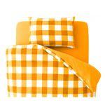 32色柄から選べるスーパーマイクロフリースカバーシリーズ ベッド用3点セット シングル チェック オレンジ