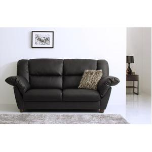 ソファー 2人掛け 座面カラー:ブラック 腰に優しいソファ EULAC ユーラック