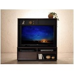 テレビボード メインカラー:ブラウン 低めで揃える壁面収納ハイタイプテレビ台シリーズ Flip side フリップサイド