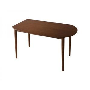 【単品】ダイニングテーブル 幅135cm テーブルカラー:ブラウン 天然木変形テーブルダイニング Visuell ヴィズエル