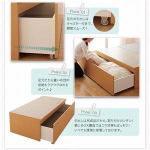 【組立設置費込】 収納ベッド シングル   【薄型スタンダードポケットコイルマットレス付】 フレームカラー:ダークブラウン  布団が収納できるチェストベッド Fu-ton ふーとん