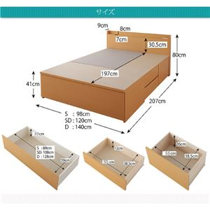 お客様組立 収納ベッド シングル   【薄型スタンダードボンネルコイルマットレス付】 フレームカラー:ホワイト  布団が収納できるチェストベッド Fu-ton ふーとん