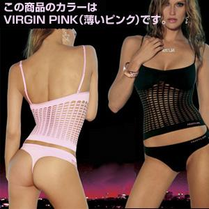 HUSTLER SHREDDED CONVERTIBLE CAMI&THONG VIRGIN PINK(薄いピンク) S/M