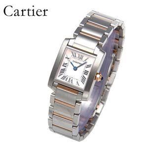 Cartier(カルティエ) タンクフランセーズ K18PGコンビ ブレスウォッチ W51027Q4