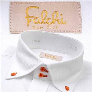 Falchi NewYork メンズ襟ワイドドレスシャツ F-D2W-OR ストライプ(#12) L 41-86