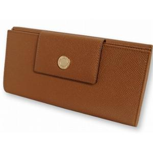 ブルガリ 20402 Wホック 長財布 キャメル BVLGARI  ブラウン