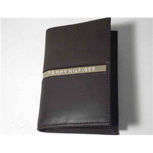 トミーヒルフィガー 4598-02 D.BR 名刺入れ ダークブラウン TOMMY HILFIGER カードケース