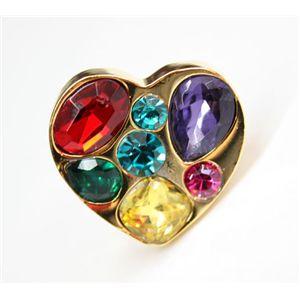 em Heart Ring(73656)/カラー:ゴールド×マルチ<
