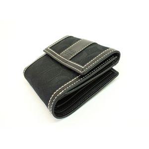 COACH(コーチ)ハンプトンズシグネチャー 40275 B4/BK ニューフレンチパース 2つ折財布 ブラック