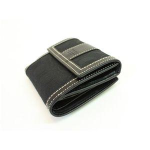 COACH(コーチ)ハンプトンズシグネチャー 40995 B4/BK ニューミニウォレット 2つ折り財布 ブラック