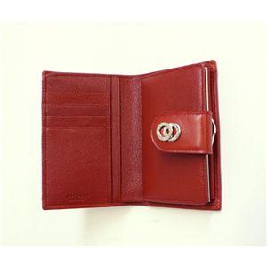 BVLGARI ブルガリ 25253 DOPPIOTONDO ドッピオトンド Wホック 二つ折り財布 レッド