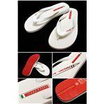 PRADA SPORTS LUNA ROSSA (プラダスポーツ ルナロッサ) サンダル LUY006 FLIP FLOP-WHITE+RED サイズ11/12