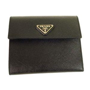 PRADA (プラダ) 三つ折り財布 M0170-SAFFIANO-ORO-NERO