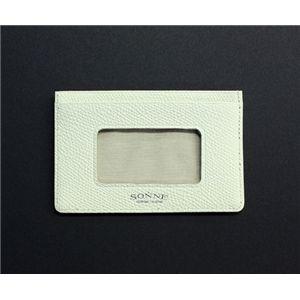 SONNE(ゾンネ)パスケース グレインレザー SOG033/WHT ホワイト