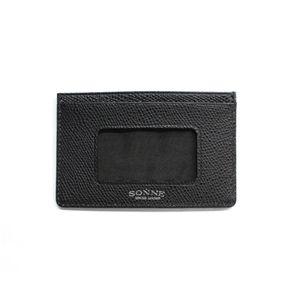 SONNE(ゾンネ)パスケース グレインレザー SOG033/BLK ブラック