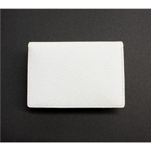SONNE(ゾンネ)カードケース グレインレザー SOG028/WHT ホワイト