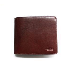SONNE(ゾンネ)2つ折り小銭入付財布 レザー SOC012N/LEATHER/CHO チョコレート