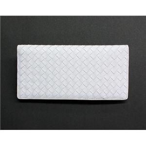 SONNE(ゾンネ)長財布(小銭入れ無し)イントレチャート SOI031/WHT ホワイト