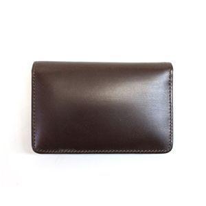 SONNE(ゾンネ)名刺入れ カードケース ブライドルレザー SOW008/CHO チョコレート