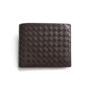SONNE(ゾンネ)2ッ折財布 イントレチャート SOI002/CHO チョコレート