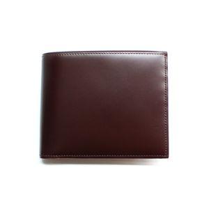 SONNE(ゾンネ)2つ折り小銭入付財布 コードバン SOC002/CHO チョコレート