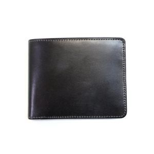 SONNE(ゾンネ)2つ折り小銭入付財布 ブライドルレザー SOW002/BLK ブラック