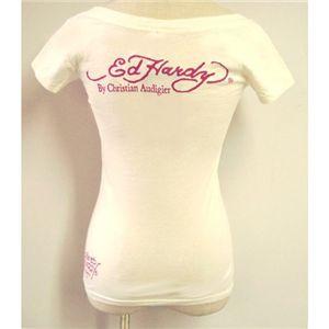 Ed Hardy(エドハーディー) Tシャツコレクション W02BSCSC167 13 WH(ホワイト Uネック) XSサイズ