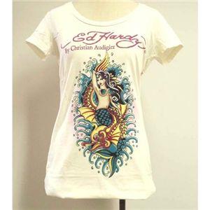 Ed Hardy(エドハーディー) Tシャツコレクション W02BSCSC298 13 WH(ホワイト Uネック) Sサイズ