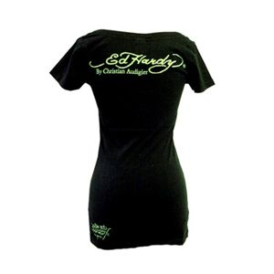 Ed Hardy(エドハーディー) Tシャツコレクション W02VNEK167 99 BK(ブラック Vネック) Sサイズ