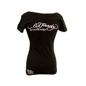 Ed Hardy(エドハーディー) Tシャツコレクション W02VNEK297 99 BK(ブラック Vネック) XSサイズ