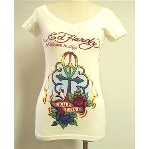 Ed Hardy(エドハーディー) Tシャツコレクション W02VNEK297 13 WH(ホワイト Vネック) XSサイズ