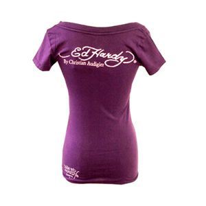 Ed Hardy(エドハーディー) Tシャツコレクション W02VNEK297 93 PU(パープル Vネック) Sサイズ