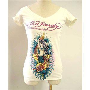 Ed Hardy(エドハーディー) Tシャツコレクション W02VNEK298 13 WH(ホワイト Vネック) Sサイズ