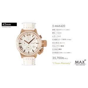 MAX XL WATCH 【マックス ウォッチ】 腕時計 5-MAX420 42mm FACE LINE