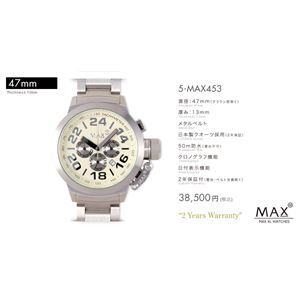 MAX XL WATCH 【マックス ウォッチ】 腕時計 5-MAX453 47mm FACE LINE