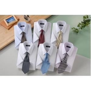 銀座・丸の内のOL100人が選んだ 半袖ワイシャツ&ネクタイセット 50217 シャツサイズ M ワイシャツ6枚 ネクタイ8本 セット
