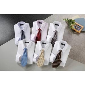 銀座・丸の内のOL100人が選んだ 半袖ワイシャツ&ネクタイセット 50211 シャツサイズ M ワイシャツ6枚 ネクタイ8本 セット