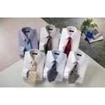 銀座・丸の内のOL100人が選んだ ワイシャツ&ネクタイセット 50210 シャツサイズ S ワイシャツ6枚 ネクタイ8本 セット