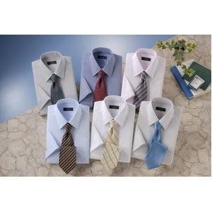銀座・丸の内のOL100人が選んだ 半袖ワイシャツ&ネクタイセット 50216 シャツサイズ 3L ワイシャツ6枚 ネクタイ8本 セット