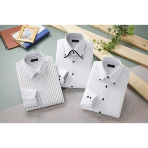 ドレスシャツ3枚組 抗菌・防臭加工ワイシャツ ホワイト 50220 サイズ L