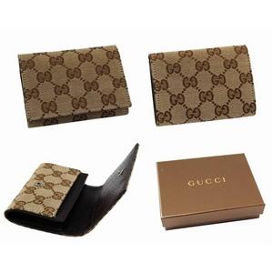 GUCCI(グッチ) カードケース/名刺入れ 120965 F40IR 9643 GGキャンバス(ベージュ)