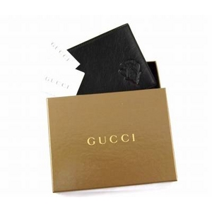 GUCCI(グッチ) 二つ折り財布 190422 BEC0N 1000 カーフ(ブラック)