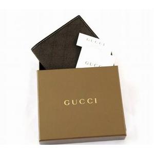 GUCCI(グッチ) 二つ折り財布 04857R FV2AR 2159 GGキャンバス(ダークブラウン)