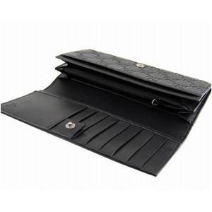 GUCCI(グッチ) 長財布 233154 A0V1R 1000 GG型押しソフトカーフ ブラック