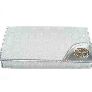 Gucci(グッチ) 181595 FI07G 8101 シルバー 3つ折り 長財布