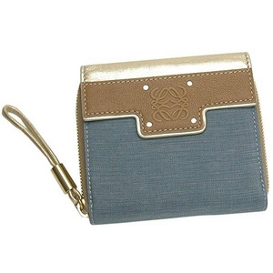 Loewe(ロエベ) BOOM BAG181 80 555 BLSUQUARE ZIPPED WALLET 2つ折りラウンドファスナー財布