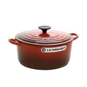Le Creuset(ル・クルーゼ) 鍋(パン) ココットロンド24cm 2501-24 RED