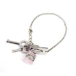 CHLOE(クロエ) 2B0160-AC5-459 パディントン ロゴモチーフ ブレスレット ローズ×シルバー