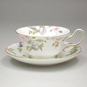 Wedgwood(ウェッジウッド) カップ&ソーサー WWスウィートプラム Sweet Plum Teacup Peony&saucer 5013380406502001